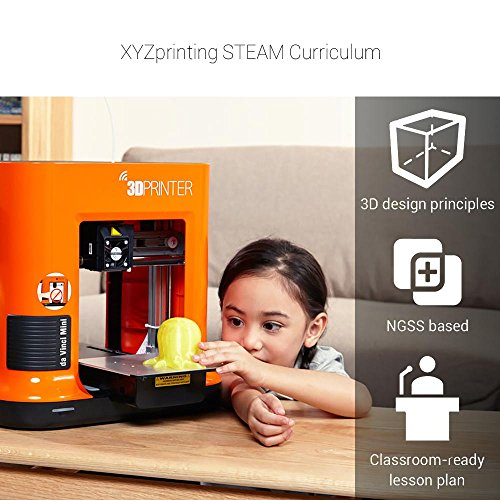 XYZprinting Stampante 3D da Vinci mini w (interamente Assemblata), Wireless, Vol. Build 15 X 15 X 15 cm - 1