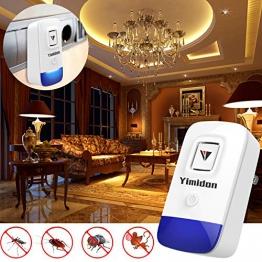 Yimidon Repellente ad Ultrasuoni, Elettrico Repeller ultrasonico per Zanzare, Ragni, Ratti, Scarafaggi, Antizanzare Efficace Sicuro e non Tossico(2 Pack) - 1