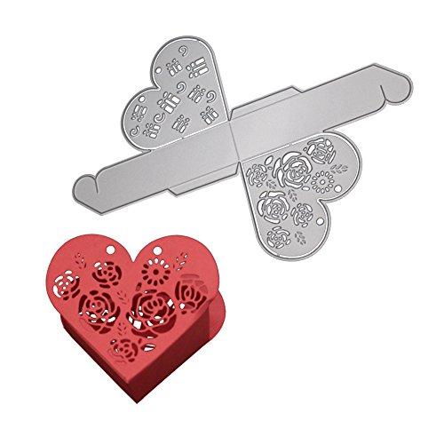 Yiwa taglio a forma di cuore box da taglio timbro matrimonio Dies New - 1