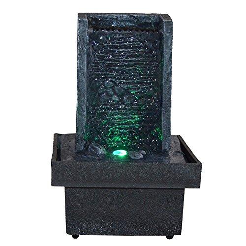 Zen Light, Fontana per interni con LED che cambiano colore, da parete - 1
