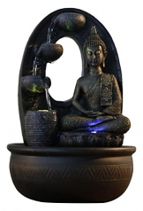 Zen Light, Harmonie - Fontana in poliresina, 26 x 16 x 40 cm, Colore: Nero - 1