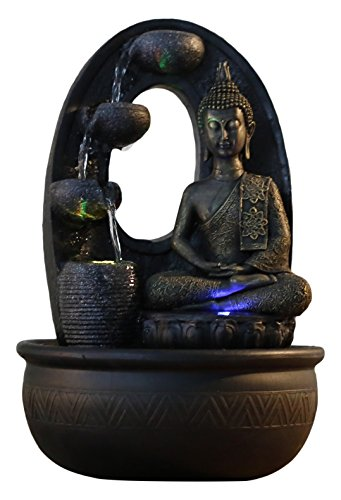 Zen Light, Harmonie - Fontana in poliresina, 26 x 16 x 40 cm, Colore: Nero - 1