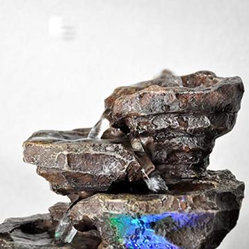 Zen Light Natura Galou Fontaine, Resina, Grigio, 21x 17x 23cm - 3