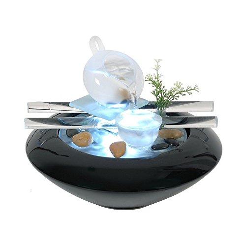 Zenarôme, Fontana da tavolo con luce Tea Time, per un'atmosfera rilassante - 1