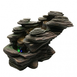 Zen'Light SCFR132 - Fontana a Torrente, Pietra, 38 x 19 x 25 cm, Colore: Marrone - 1