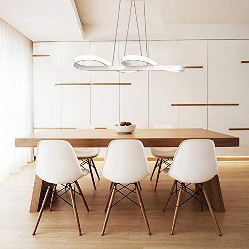 ZMH Lampada a Sospensione LED 58W Lampadario a Sospensione Dimmerabile bianco caldo| neutro | bianco freddo Plafoniera Lampada da soffitto con il telecomando per tavolo da pranzo - 1