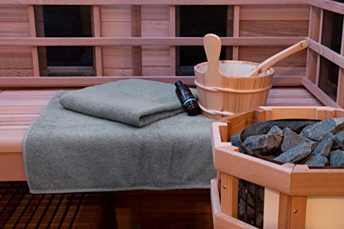 ZOLLNER 2 Asciugamani Mare Teli Mare, 70x200 cm, 100% Cotone, Grigio, Disponibili in Altri Colori, Serie Elba II - 1