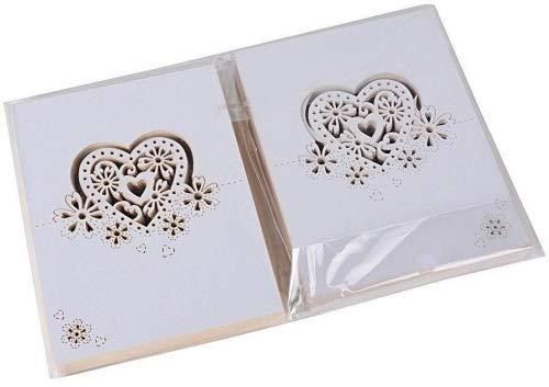 100pz 9cm*6cm Segnatavolo di Carta Cuore Bianco Perlato Segnaposti Segnabicchiere Decorazione per Martimonio Festa Compleanno Natale(Cuore) - 1