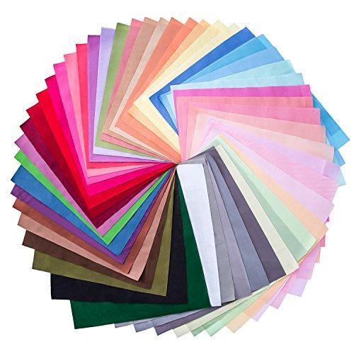 50 Pezzi Multi-colori Tessuto di Patchwork Cotone Misto Quadrato Fascio da Cucito Quilting Mestiere, 50 Colori (10 per 10 cm) - 1
