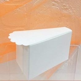 50 PZ Fetta torta portaconfetti con pizzo bianco BOMBONIERA - 1