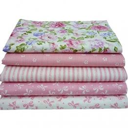 5pcs/lot 40cm * 50cm rosa 100% tessuto di cotone per cucire Quilting Fat Quarter Patchwork Tessuto bambola Tilda panno bambini biancheria da letto tessile - 1
