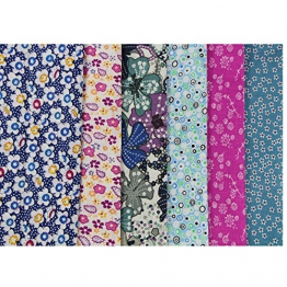 6 pezzi 50 x 50 cm confezione stoffa, cotone, cucito fai da te, quilting, patchwork, motivi fantasia U-b902 - 1