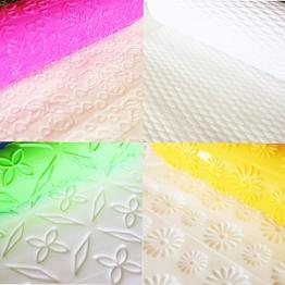 8 Mattarelli con rilievi, Per decorazioni, fondant, pasta, Con vari modelli decorativi in colori brillanti by CASCACAVELLE - 1