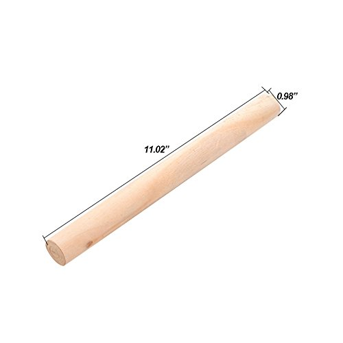 Alexsix Mattarello 28 cm in Legno di Faggio - Perfetto per la Preparazione di Pane, Torte, Biscotti, Pasta Fresca, Pasta sfoglia (28cm) - 1