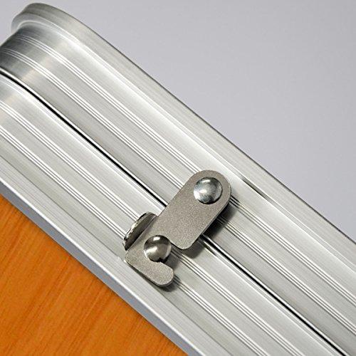 AMANKA Tavolino da pic-nic 120x60x70cm Tavolo da campeggio in alluminio altezza regolabile pieghevole formato valigia Bambù - 1