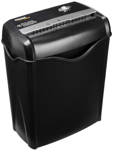 AmazonBasics - Distruggidocumenti 5-6 fogli, taglio incrociato, con funzione distruggi carte di credito e cestino estraibile - 1