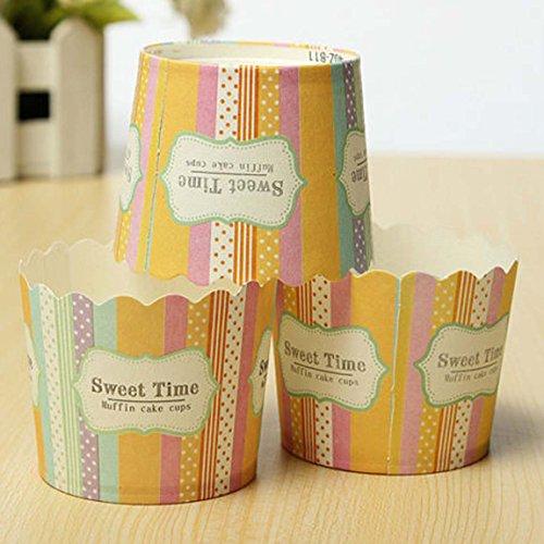 Ancdream ø6,7cm Taglia Medio 100PZ Pirottini Carta per Muffin Cupcake Torte Dolce Forno Decorazione Baking Cup - 1