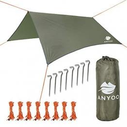 Anyoo Telone in Nylon Ripstop da Spiaggia Anti-Pioggia Tenda Parasole per Amaca 3 × 3 mt. Copertura Impermeabile Leggera da Campeggio ed Escursionismo - 1