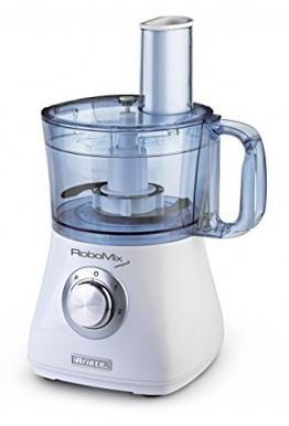 Ariete 1769 Robomix Compact da Cucina, Multifunzione, Capacità 2 L, Set Accessori per Tritare, Affettare, Montare, Impastare, Emulsionare, 500 W, Bianco - 1