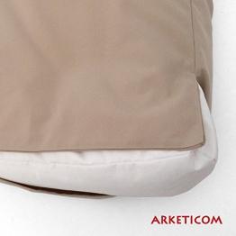 Arketicom Soft Set Cuscini Pallet BANCALI Morbidi da Esterno per arredo mobili divani da Giardino Salotto divanetto Pallet o bancale Cuscini arredo con Palline di polistirolo Tessuto Acrilico Bianco - 1