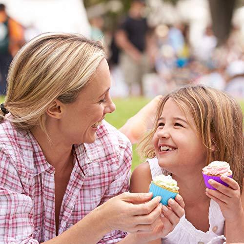 Avana Pirottini per Muffin riutilizzabili in Silicone di Alta qualità Ecologico Pirottini per Muffin Cupcake Pirottini Cupcake Cupcake Stampini per Muffin 8 Colori, Set da 36 - 1