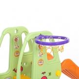 Baby Vivo Scivolo per Bambini Bimbi Giardino Esterni Interno Parco da Plastica Struttura per Arrampicarsi con scivolo in Turchese/Grigio - 1