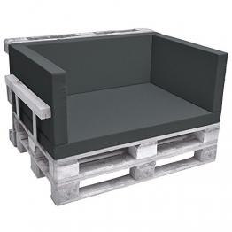 Beautissu Cuscino Seduta per divani con bancali - Eco Pure 120x80x8cm - per divanetti e panche da Giardino - Grigio - 1
