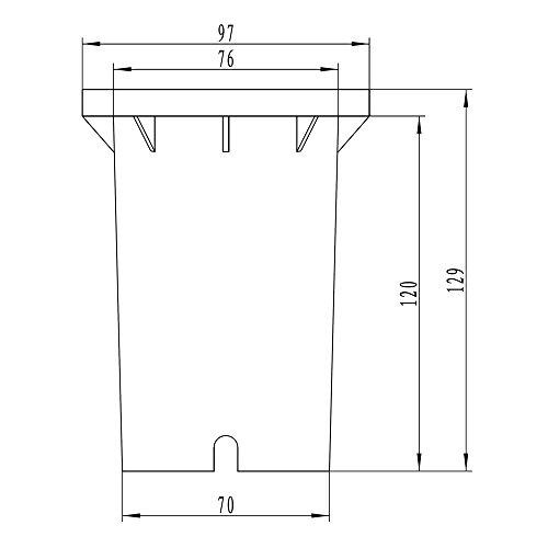 Biard Vilanoveta Faro da Terra LED GU10 IP67 con Design Rotondo ad Incasso – Illuminazione Impermeabile per Bagni Giardini Pavimentazione Giardino Piscine - 1
