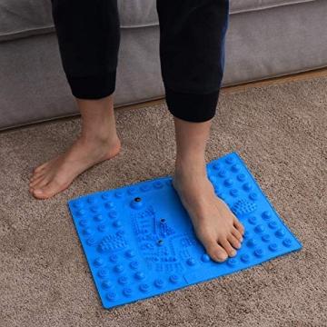 BIEE Tappetino per Massaggio ai Piedi, Zerbino per digitopressione Piede Reflexology Mat Materassino per riflessologia Magnetica Terapia - 7