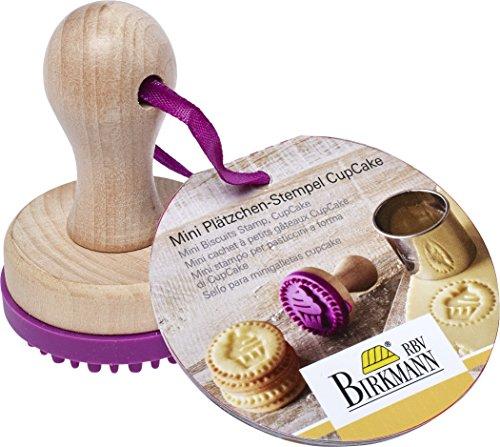 """Birkmann """"Cup Cake Mini timbro per biscotti, legno, colore: viola/marrone, 5cm - 1"""