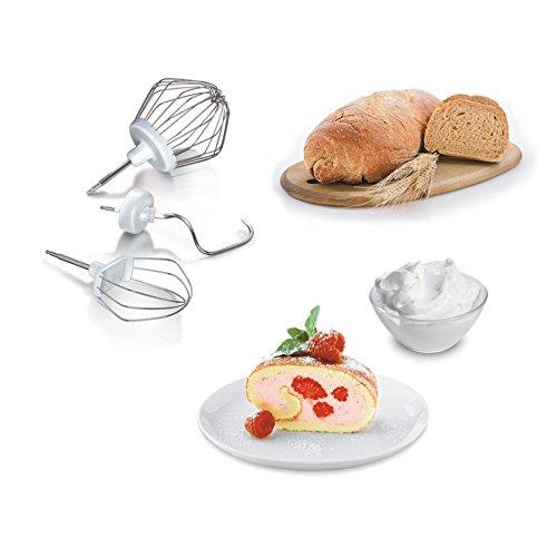 Bosch MUM4405 Macchina da Cucina, 500 W, 3.9 Litri, ABS, Acciaio Inossidabile, 4 velocità, Bianco - 1