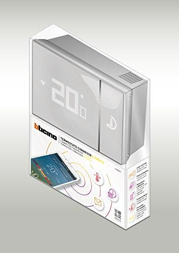 BTicino Smarther SX8000W Termostato Connesso da Muro con Wi-Fi Integrato, Bianco - 2