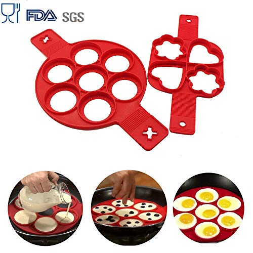 BUWANT 2pezzi DIY pancake stampi per dolci in silicone - 1