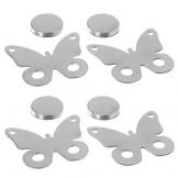 buy-safe.de, fermatovaglia magnetici, in acciaio inox di alta qualità, 4 pezzi - 1