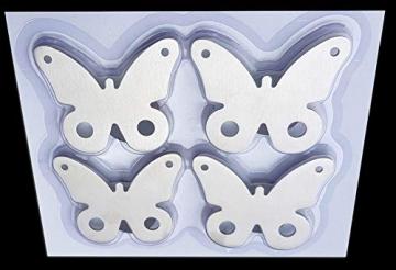 buy-safe.de, fermatovaglia magnetici, in acciaio inox di alta qualità, 4 pezzi - 3