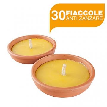 BuyStar Set 30 fiaccole anti zanzare con vaso terracotta Ø11 Cm aroma citronella - 1