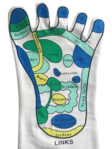 Calze, 1coppia–per il montaggio facile per riflessologia piede Riflessologia casa, piede Riflessologia, massaggi calzini, Reflexologie - 3