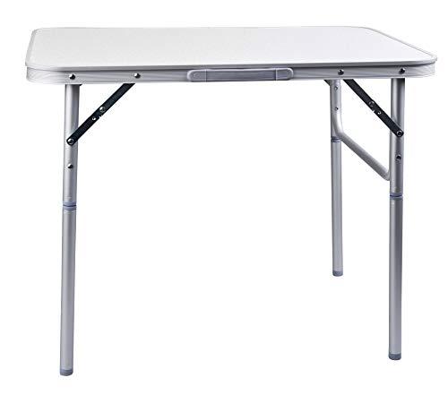 CAMP ACTIVE Tavolo in alluminio pieghevole campeggio Tavolo 75x 55cm giardino tavolo Tavolino pieghevole Tavolo da picnic in alluminio tavolo pieghevole e regolabile in altezza - 1