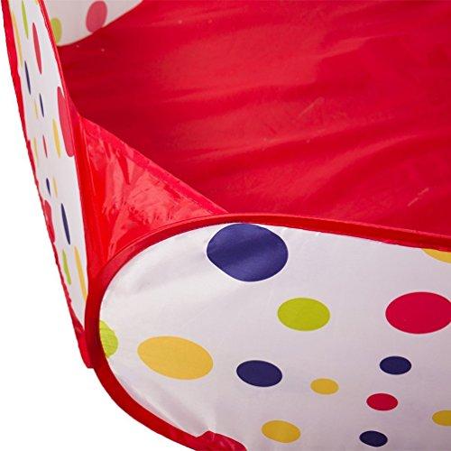 Campfine 3 in 1 Bambini Giocano Tenda Tenda Crawl Tunnel e Palla buca Bambino Playhouse Tenda con canestro da Basket, per Uso Interno ed Esterno con Custodia - 1