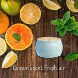Candele Citronella, ESOLOM Candele Repellente Zanzara Anti Insetti Mini 4,8 Oz Ogni Lemongrass, Candele Profumate Cera di Soia 100% Naturale Esterno Interno per Casa Campeggio (4 pezzi) (4 pezzi) - 1