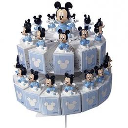 CARTOON WORLD BOMBONIERA Torta con 29 Scatoline Portaconfetti Piu Statuine Disney Topolino - 1