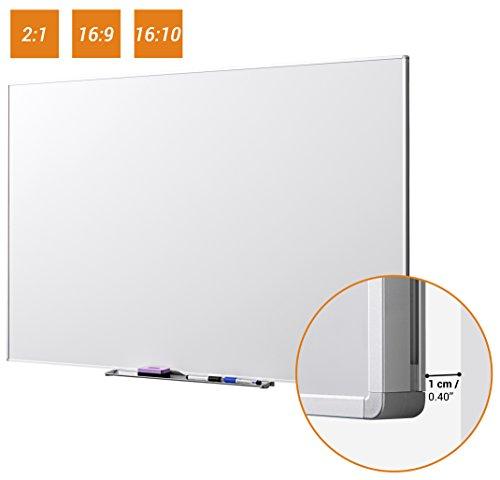 """celexon Whiteboard lavagna interattiva per proiezioni 150 x 94 cm, 70"""", formato 16:10 per utilizzo universale, incluse due penne per Whiteboard e contenitore - 1"""