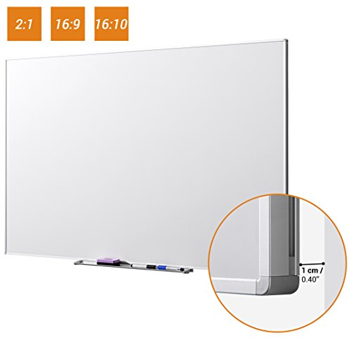 """celexon Whiteboard lavagna interattiva per proiezioni 213 x 120 cm, 96"""", formato 16:9 per utilizzo universale, incluse due penne per Whiteboard e contenitore - 1"""