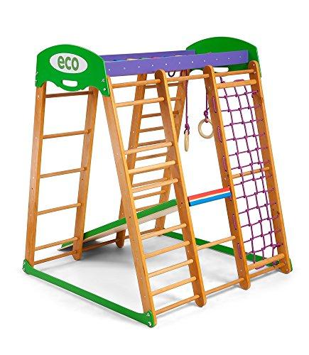 """Centro di attività """"Karapuz"""", anelli, barre di scimmia, scivolo per bambini, al netto di arrampicata, scala svedese - 1"""
