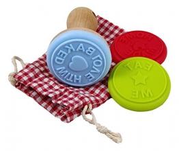 Charming Boxes - set di stampi per biscotti, 3 stampi in silicone con supporto in legno e sacchetto di cotone per la conservazione, fantastico regalo di Pasqua!  - 1