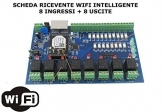 CMG SOLUTIONS RICEVENTE 8 CANALI I/O WiFi DOMOTICA Timer LUCI Caldaia Web Android/iOS - 1