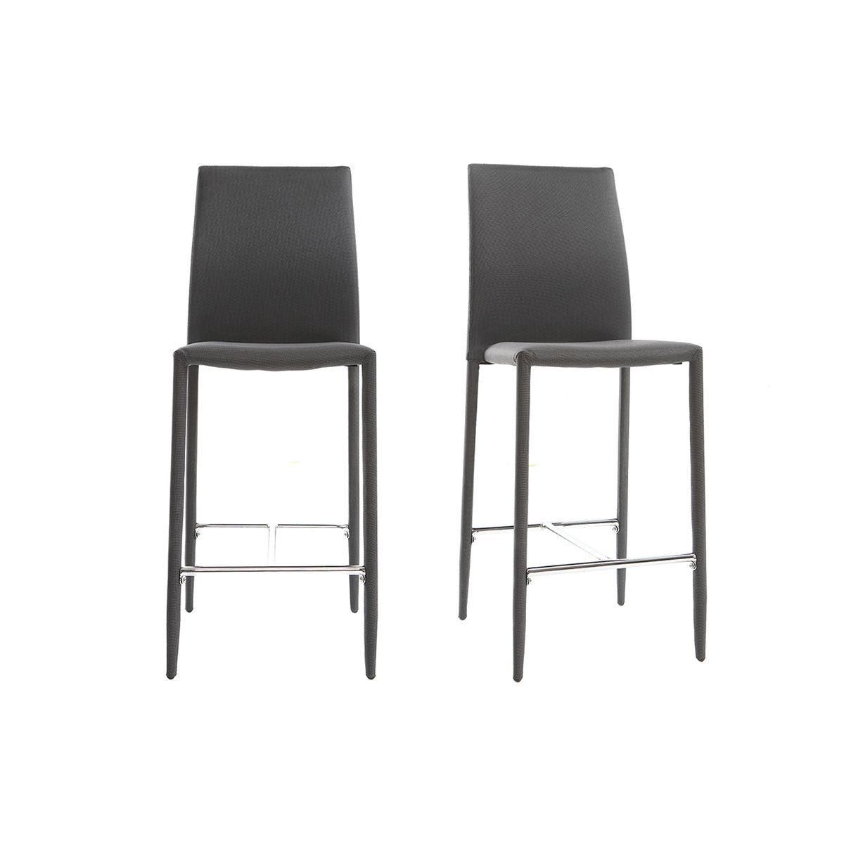 Dove acquistare Coppia di 2 sgabelli / sedie da bar design grigio antracite TALOS