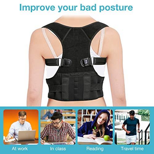 Correttore di Postura, SGODDE Correzione del Supporto per la Postura Dritta Postura per la Schiena, Dolore al Collo e Tracolla per la Spalla per la Schiena Diritta per Donna e Uomo - 1