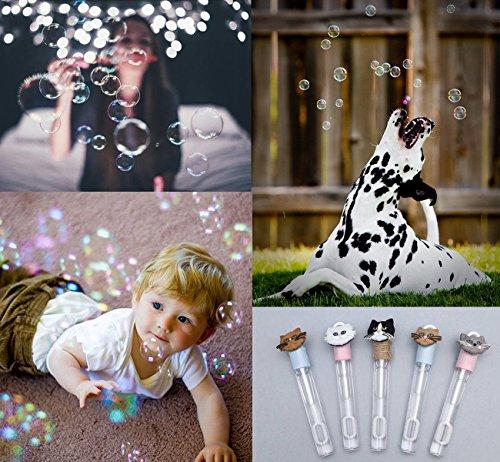 Cubewit 60x bolle di sapone con il manico a cuore,Wand Heart Tube Bubble wedding decorazione della tavola di accessori per feste - 1