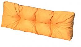 Cuscino Spalliera per Bancale 120x42x10-18 cm - Cuscini per Schienale Divano pallet di legno - COLORE GIALLO ARANCIATO - 1